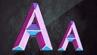 How To Draw 3D Letters || 3D Graffiti || Draw Letter A In Chisel Letters