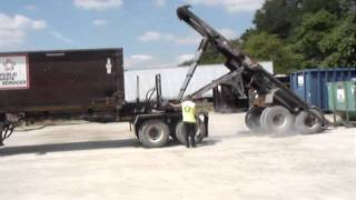 Ace B-Train Roll Off Trailer System Unloading Rear Trailer
