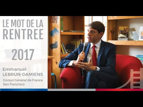 Back to school welcome with French Consul Emmanuel LEBRUN-DAMIENS