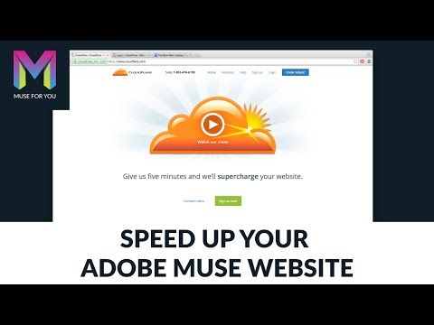 Optimizing Your Adobe Muse Website With Cloudflare | Adobe Muse CC | Muse For You