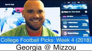 Georgia vs Missouri (2018) Prediction | CFB Week 4 Picks (NCAAF) | College Football UGA at Mizzou