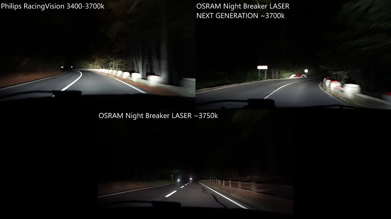 philips racingvision vs osram night breaker laser next. Black Bedroom Furniture Sets. Home Design Ideas