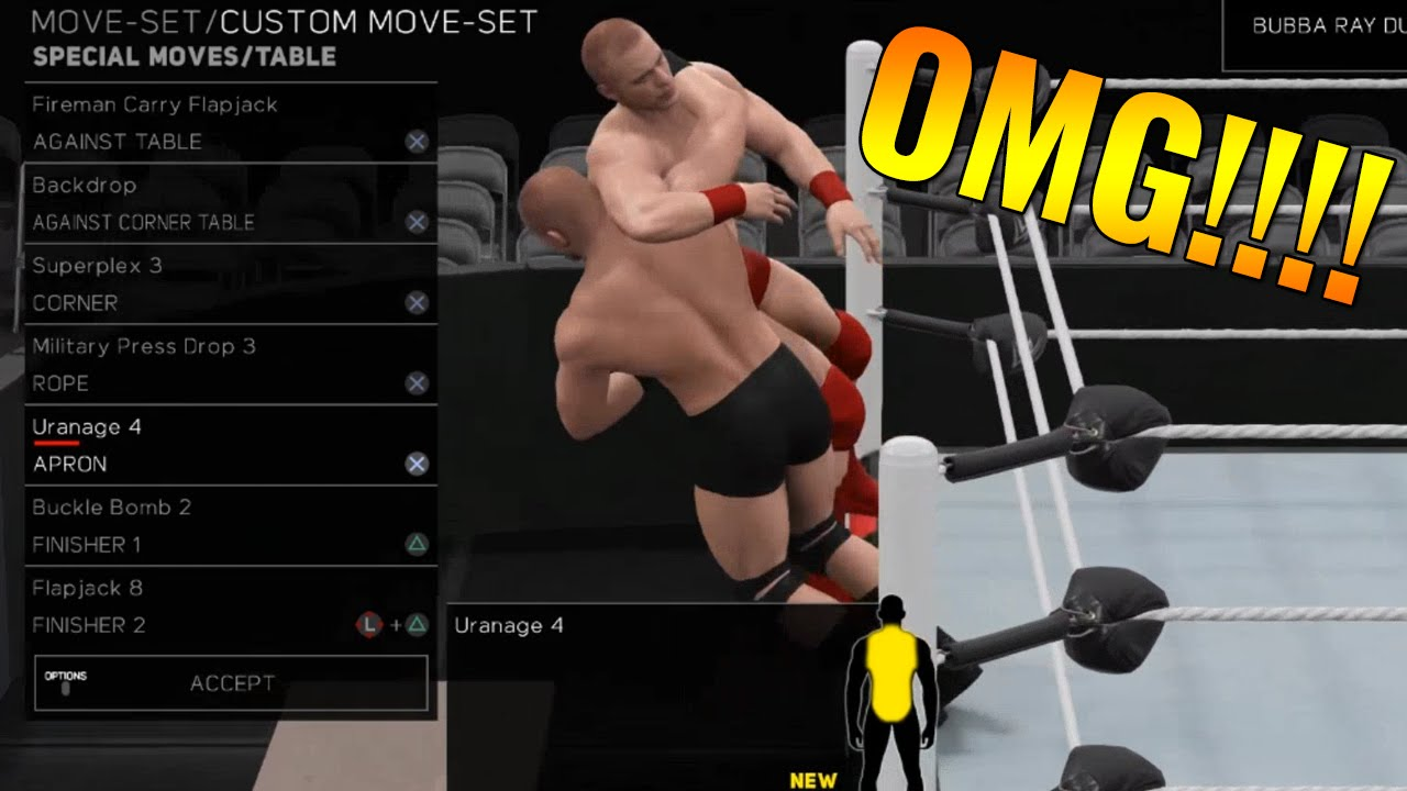 omg tables wwe 2k17 7 new ways to use tables table meter wwe2k17 youtube. Black Bedroom Furniture Sets. Home Design Ideas