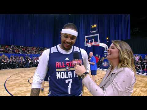 LeBron James Crashes Carmelo Anthony's Interview