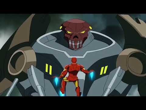 Avengers vs. Hydra sentinels