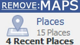 this is how to remove places map on your facebook timeline profile wall tutorial