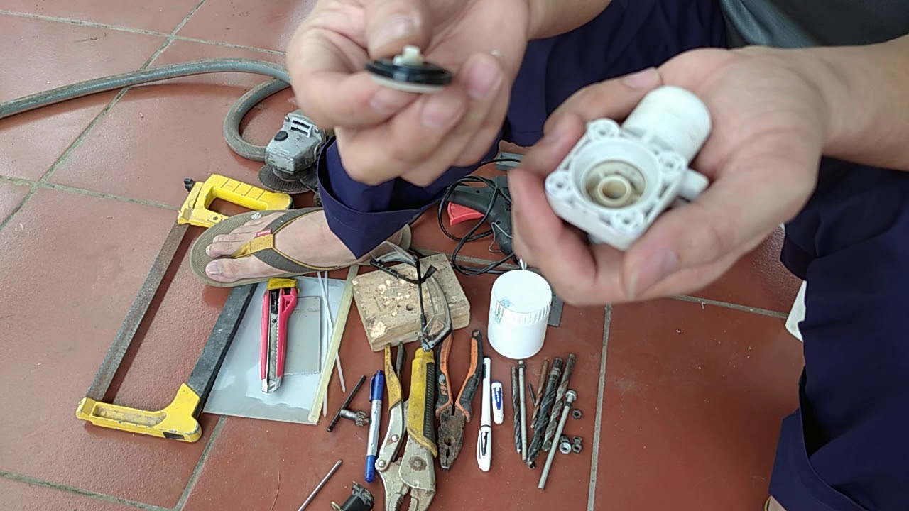 Tự Chế Van phao cơ bể nước Ngầm chống tràn. How to make a water float valve?