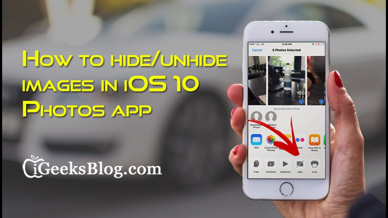 How to hide stuff on iphone