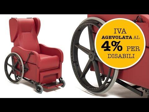Poltrona per disabili e anziani relax drive con ruote da