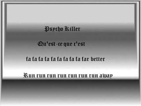 PSYCHO KILLER Chords - Talking Heads | E-Chords
