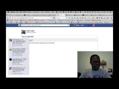 How to create Facebook Notes