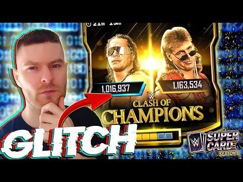CLASH OF CHAMPIONS GLITCH!! WRESTLEMANIA 36 PLATINUM PACK OPENING! WWE SUPERCARD SEASON 6