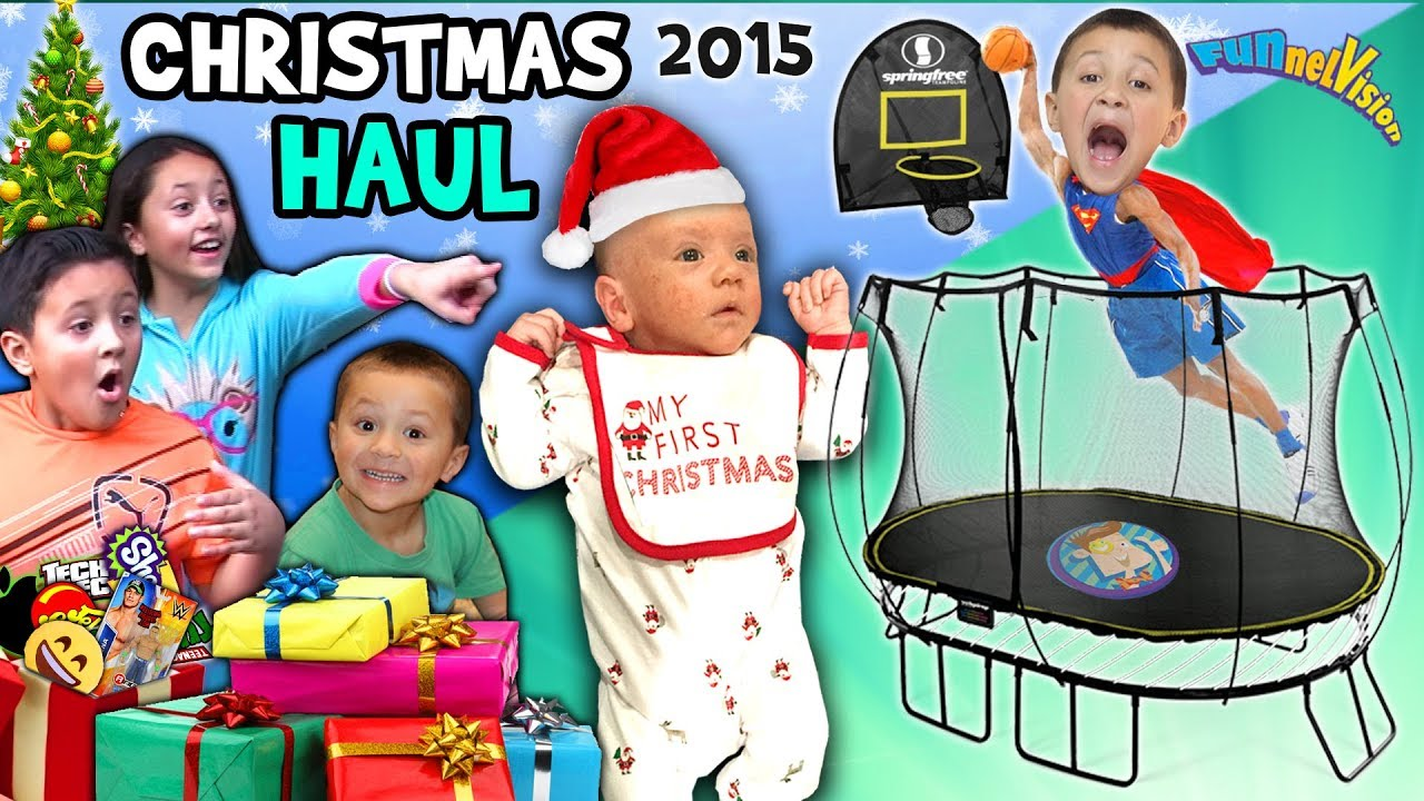 Christmas Haul 2015 W Snow Surprises Fv Family X Mas
