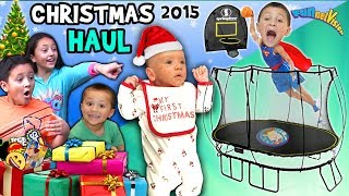 CHRISTMAS HAUL 2015 w  SNOW!!! Surprises!! FV Family X-Mas Holiday Vlog