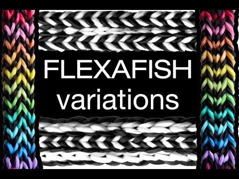 FLEXAFISH Variations Tutorial - 4-in-1 Rainbow Loom Bracelet Designs