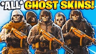 "*ALL* GHOST OPERATOR SKINS IN MODERN WARFARE SHOWCASE (MW Ghost Pack Contingency +  ""Classic Ghost"")"