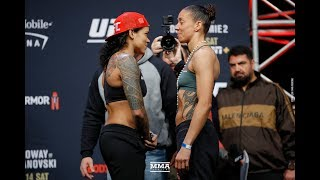 UFC 245: Amanda Nunes vs. Germaine de Randamie Weigh-In Staredown - MMA Fighting