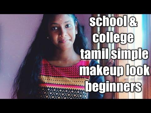 tamil simple makeup look beginners/school  college