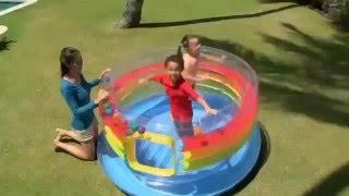 видео Надувной батут игровой центр Intex 48264, 182 х 86 см.