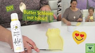 DIY BUTTER SCHLEIM mit Bilou 💕 Wir machen Butter Slime selber | Geschichten und Spielzeug