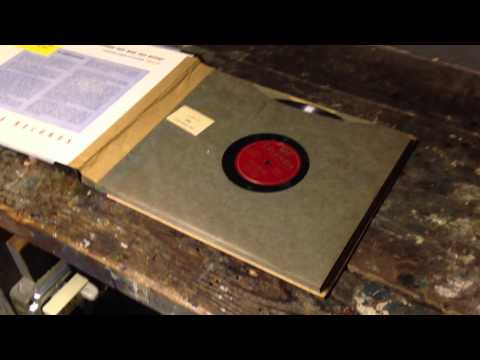 Unboxing a 78-rpm Record Album Still in the Original Packaging