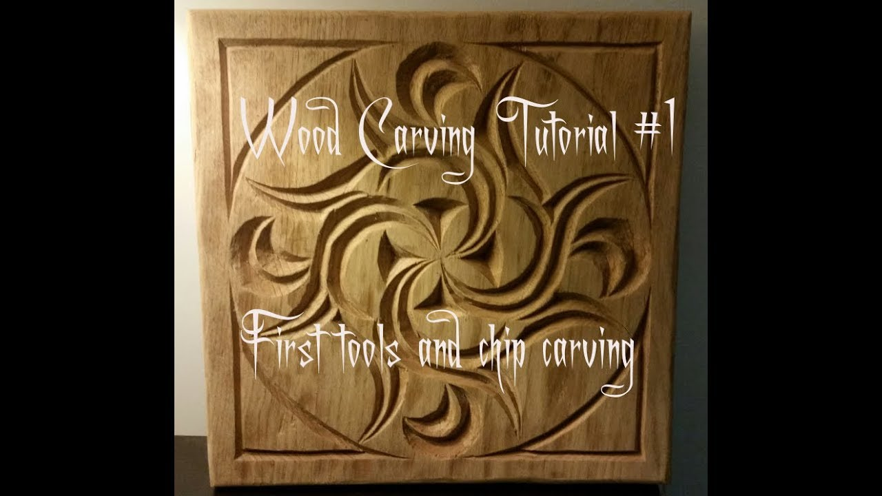 Wood carving tutorial first tools and chip