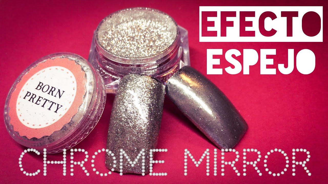 Efecto espejo con pigmento Born Pretty - YouTube