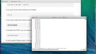 nvm(node version manager)インストールからnode,npmのインストールまで