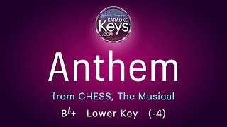 Anthem.  Bb+  from CHESS, the Musical  (karaoke piano) WITH LYRICS