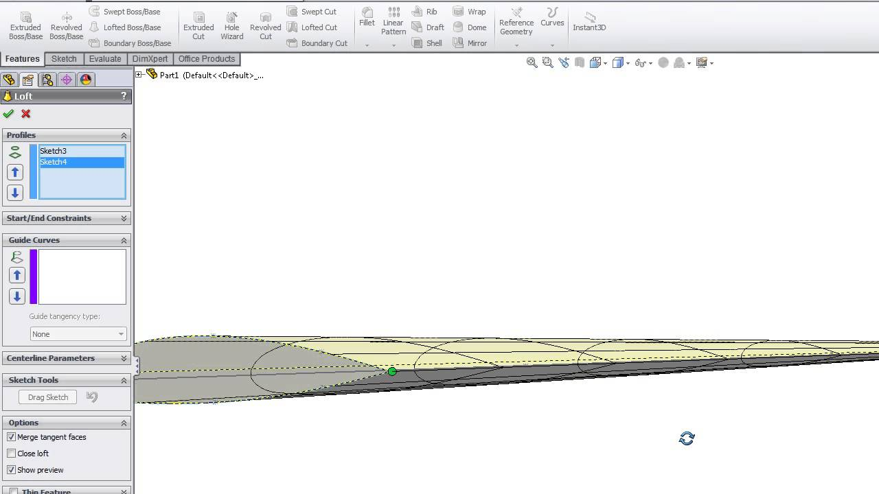 Aviation airfoil project in SolidWorks