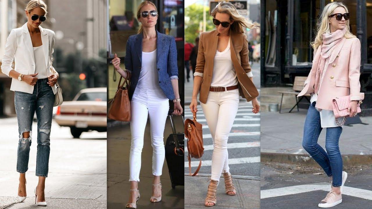 Moda tendencias blazer y jeans 2018 2019 youtube for Tendencia de color de moda