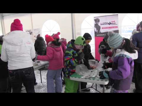 2015 World Snowmobile Invasion - Whitecourt Trailblazers Snowmobile Club - Ice Carving Event