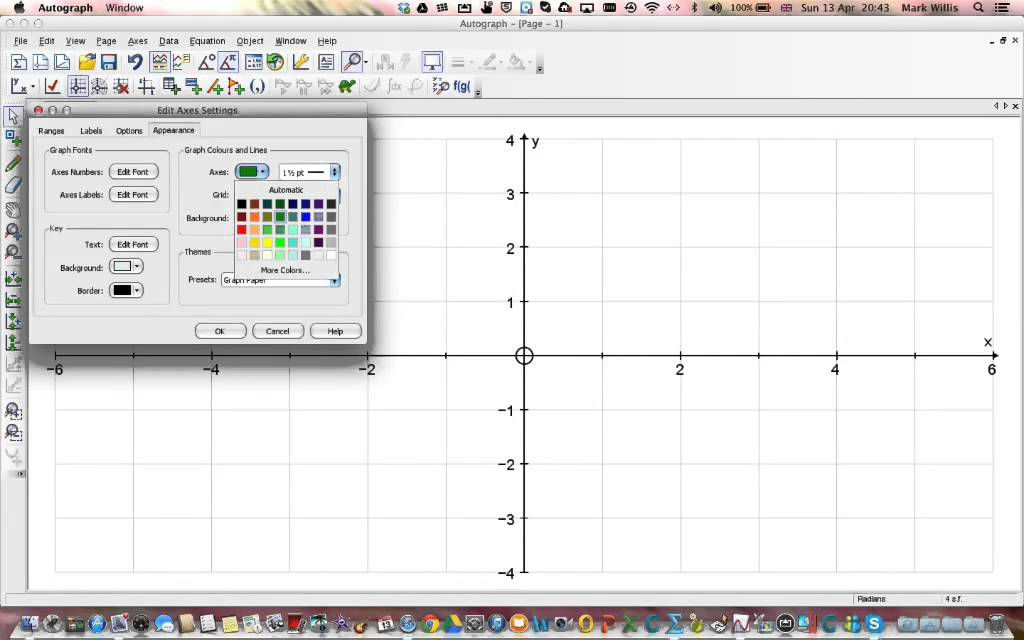 Making Graph Paper With Autograph - Youtube