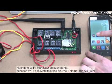 fernsteuerung von ac motor mit handy per wlan wifi controller funkfernbedienung youtube. Black Bedroom Furniture Sets. Home Design Ideas