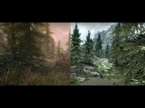 Skyrim Special Edition Graphics Comparison XONE VS  XBOX 360 Poster
