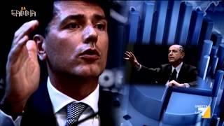 """La gabbia - """"Numeri a vanvera"""" - con A. Di Pietro, L. Comi, O. Giannino e P. Gomez (30/10/2013)"""