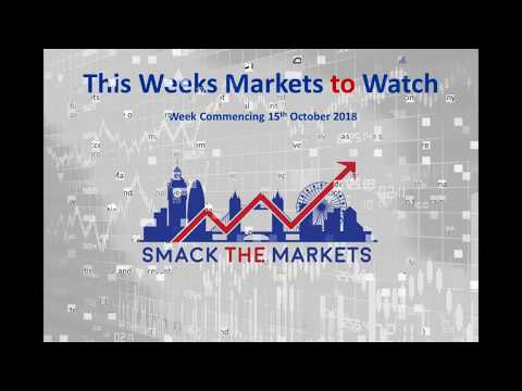 This Weeks Markets to Watch video Newsletter for 15th October 2018