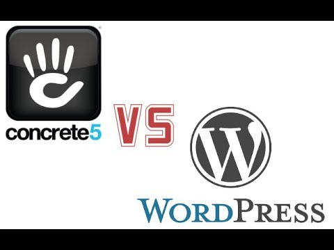 Comparing WordPress and Concrete5 editing