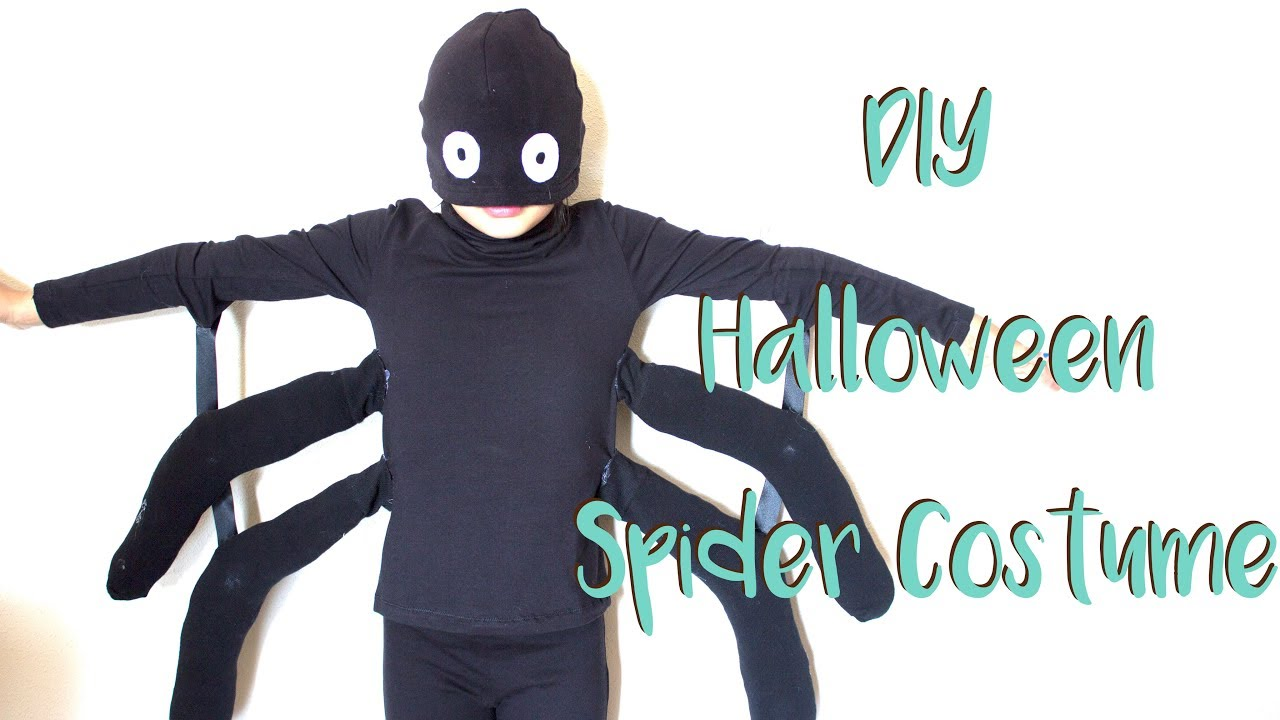 DIY - Halloween Spider Costume - Disfraz de araña Súper Low Cost ...