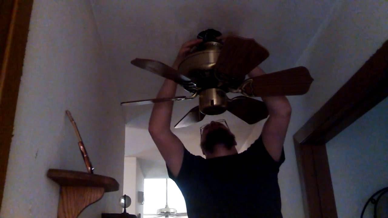 removing a kichler terna ceiling fan installing a homestead comfort rh youtube com