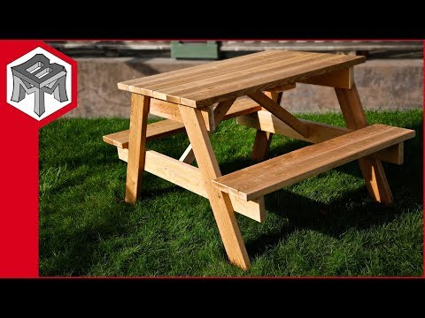 How to Make a Picnic Table - Plans and Instructions