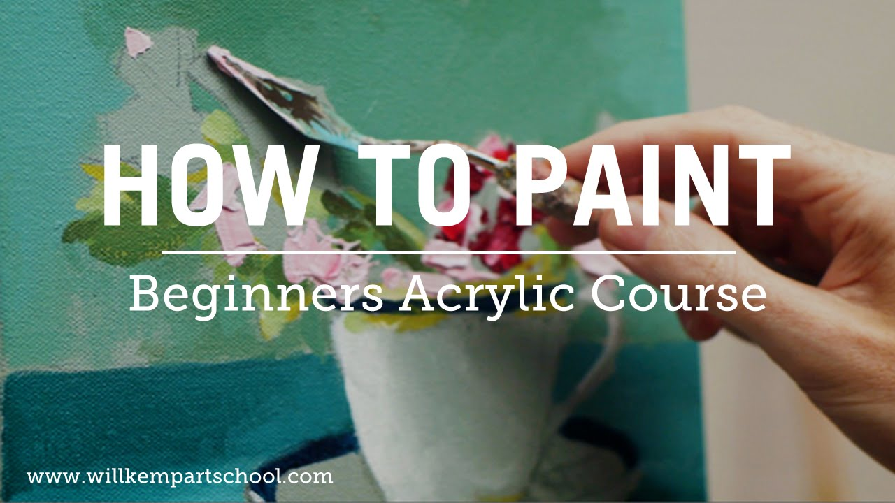 beginners acrylic painting course new youtube