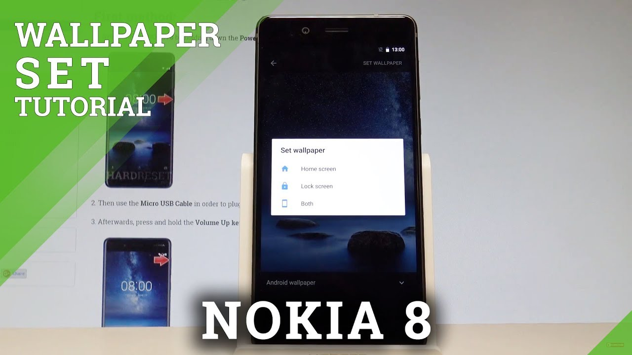 How to Change Wallpaper on NOKIA 8