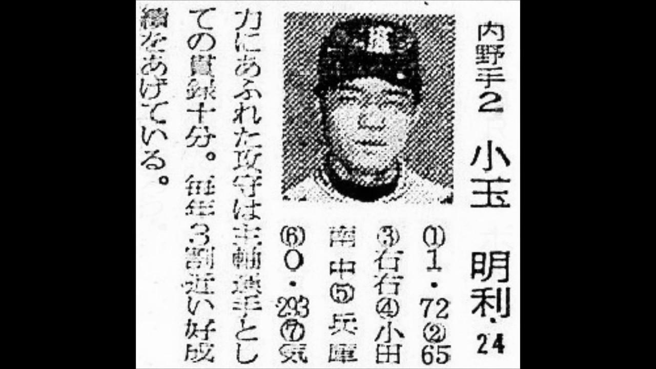 1960年 近鉄バファロー 選手名鑑...