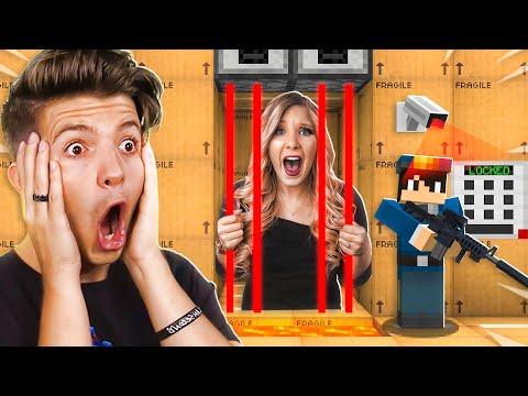 Saving Brianna From A Cardboard Minecraft Prison!