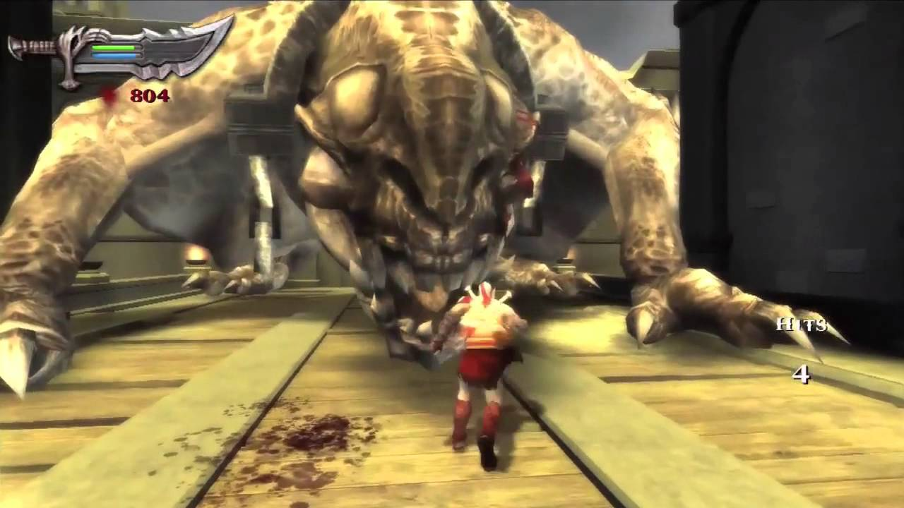 God of War Chains of Olympus PS3 (Boss Fight Basilisk ...