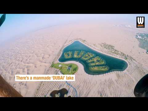 Did you know there's a 'DUBAI' lake in the desert?