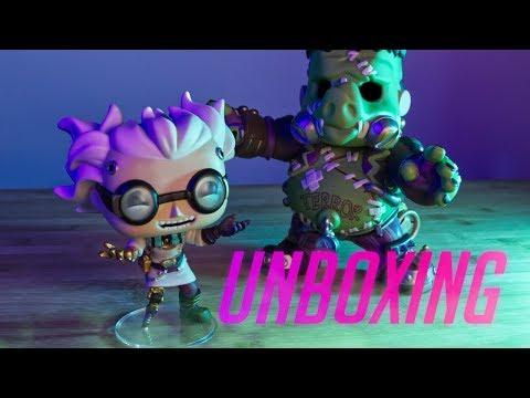 Junkrat & Roadhog Halloween Funk Pops ➤ SPOOKY UNBOXING 👻
