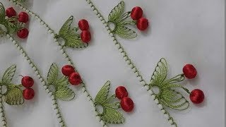 İğne oyası kiraz modelinin anlatımlı yapılışı &  How to make cherry pattern ?