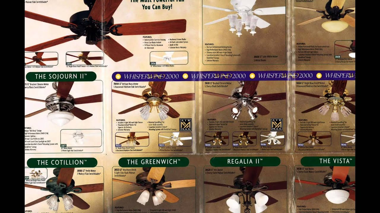 Hunter Ceiling Fan Catalog from 1999 - YouTube